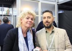 Monique Heemskerk, Royal FloraHolland Alejandro Perez, Komet Sales.