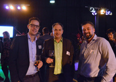 Peter Hendriks (Letsgrow.com), Aad van den Berg (Delphy) en Bas Visser (Wireless Value)