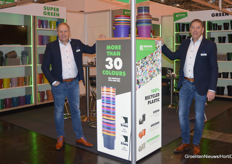 Stefan Lohuis and Ronald Nijenhuis (Kreuwel Plastics) go green, greener, supergreen with 100% recycled plastic.