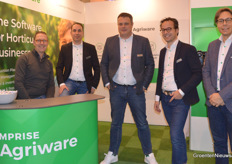 The 'green team' of Mprise Agriware: Renger Reitsema, Martijn van Leeuwen, Ronald den Uil, Wilco Moen and Marek Thielemann.