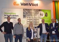 Rory De Lange, Guy Haver, Ilse Klaassen, Bob Ijpelaar and Martien Klaver with Van Vliet Containers