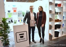 "Mathew and Marzena of MZ Forma. The focus this year are the recyclable and recycled pots. ""Recallability is the key word this year"", Marzena says."