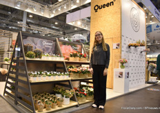 Emilie Stærmose of Queen Genetics presenting their pot rose and succulent assortment. They are expanding the assortments all the time while the demand continues to increase.
