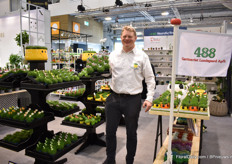 Mads Bang Olsen of Gartneriet Lundegaard. This Danish grower cultivates sagina in a 0.5 ha sized greenhouse. New this year is the Farm Mix.