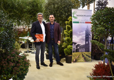 Filippo Facioli of MyPlant & Garden, a show that will held in Milan, Italy, from February 26-28 and Edi Ejlli of Mondi, who will exhibit at this exhibition in 2021. This Italian grower grows all kind of outdoor plants.