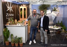 Luca Danieli and Luca Zunino of Zunino cactus, an Italian cactus grower.