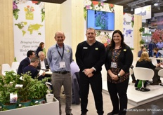 Pete Kruger, Bradd Yoder and Lacy Gragnani of Star Roses & Plants. At the IPM Essen, they mainly present their woody shrubs that they source from all over the world. They also handle licensing.