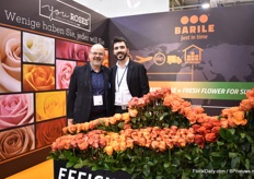 Andreas Klang and Sabino Sibittano of Barile. At their booth, next to their web shop, they were also presenting their brand youRoses. It is a selection of roses that are grown by a selection of farms in the mountains of Ecuador.