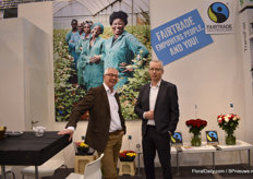 Ronald van de Breevaart of GTC-plus and Fairtrade Global Trade Manager and Matthijs Meksen of VGB.