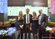 The family Heuger of Heuger. At their booth, they were presenting several hellebore and hydrangea varieties in their assortment. The hellebore series Ice N' Roses was introduced about 2 years ago and is, according to Josef Heuger, one of the fastest growing assortments, regarding demand.
