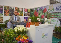 Filippo Potrella of FloraToscana. This year, they had a booth in two halls.