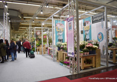 In hall 1A, where florists are the main visitors.