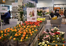 The large booth of Roses Forever was not in the 'Danish Hall' this year, but of course, one could see some of their flowers and a sign to their booth, which was in hall 1 this year.