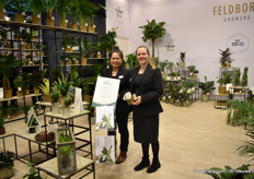 "Vicki Rungruang and Ann-Sofie Jensen presenting Cocoz -their new biodegradable post made from a mix of natural rubber and coir coconut fibers - a natural waste in coconut production. ""With these pots you get a sustainable alternative to plastic grow pots."" They launched this new concept at the IPM Essen."