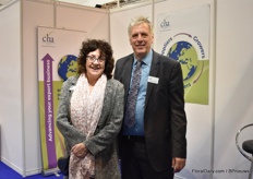 Pat Flynn and Charlie Parker of Commercial Horticultural Association (CHA), the British trade association for manufacturers and suppliers of plants, products and services to commercial horticultural growers throughout the world.