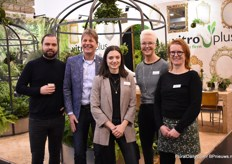 The Vitro Plus team: Vincent van Vuuren, John Bijl, Hanna Verhoog, Ellen Kraaijenbrink and Heleen Pompe. They presented a lot of novelties to everyone who wanted to know more about their ferns.