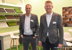 Matthijs van den Berg and Jan Dons with Green Products brought their Green Plugs to the attention of the visitors.