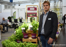 Christoph Marken of AVS with the new concept Lucky Berry. Christoph now has strawberries, blueberries and raspberries within this concept, which holds the promise consumers can eat fruits for at least four months a year.
