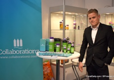 Bas Verhoeven of Collabarationz was at the fair to promote their production and filling possibilities in horticulture.