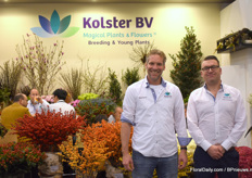 Wouter Salman and Robert - Jan Kolster of Kolster. This year they also presented products suitable for selling in pots.