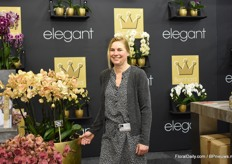 Margot Maljaars of Bernhard with the Elegant Golden River Phaleanopsis.