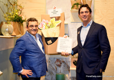 Emile Dings of Dillewijn Zwapak together with Nick MacDonald of Vaselife. Both presented 'The new One Stop Shop co-operation' between Dillewijn Zwapak and Vaselife.
