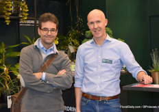 Günter Nussbaumer from Waterdrinker (right) together with a German client (left).