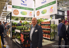 Pieter Middelkoop of Vireo Plant Sales presented his green plants, pot roses and the Mandevilla Summerstar.