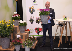Jeroen Warmerdam of Apartus with their own varieties French Geraniums.