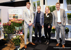 Frank Oosterlee, Marco and Bianca van de Wetering, and Gert-Jan van Staalduinen. Frank and Gert-Jan are from Lily Looks, Marco and Bianca are with Logiqs.