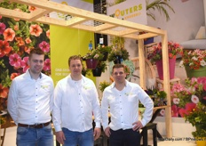 The men from Wouters Nursery. Mathias de Jong, Ton Smolders and Pascal Langevoort showed the entire range at this year's fair.
