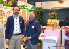 Albert Kiep of Kiep Flower together with Arthur Zwinkels of (amongst others) LG Flowers. Albert drew the attention of all visitors to the fact that his crop is produced without any use of neonicotinoids.