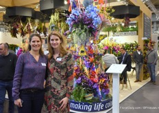 Brit Fopma and Gabriëlle van Leeuwen of the Dutch Flower Group.