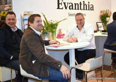 Nico Grootendorst of Evanthia with Henk Leenheer and Gert-Jan Valstar of Stars Plant.