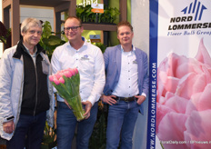 Erik Lommerse and Nol Geerlings (right) of Nord Lommerse together with a customer from Russia (left).