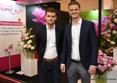 Koen and Joost Groot from Groot & Groot showed their peony assortment.