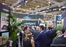 Busy at the booth of Landgard.