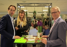 Jan Willem Wieringa and Kees Waqué (Desch Plantpak) and Charlotte Langerak (Viscon).